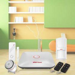 2016의 새로운 WiFi 가정 강도 안전 경보망 지적인 경보 인조 인간 Ios APP 통제 음성 프롬프트 경보 장비