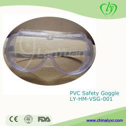 Équipement de laboratoire de la sécurité de protection en PVC Goggle Goggle