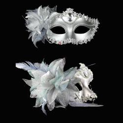 Diamante Sexy Máscara Veneciana Venecia boda flor de pluma de rendimiento de la Fiesta de Carnaval traje púrpura sexo Dama Masquerade Mask