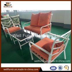 2018 en el exterior jardín Muebles de aluminio juego de sillas de hierro fundido