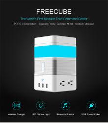 Bluetoothのスピーカー、LEDジェスチャーセンサーライト、無線充電器、力のストリップが付いているFreecubeのスマートなホームモジュラーキット