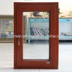 アルミニウム覆われた固体マツ木傾き及び回転Windowsの開き窓のWindows、アルミ合金の覆われた固体カシ木