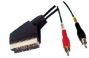 Scart Plug 2 al RCA Plugs