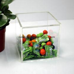 Square en acrylique transparent Candy Gift Afficher boîte avec couvercle