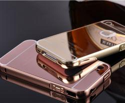 Exquis Bouclier en aluminium avec Miroir acrylique plaqué dos Housse pour iPhone 4/4S