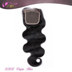 Virgin Cheveux humains péruvien dentelle noir naturel Haut de page Fermeture