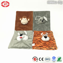 Les enfants Don doux Couverture de livre avec des animaux en peluche Jouet de tête