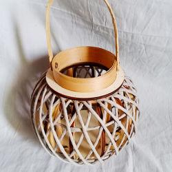 Hot vender Portavelas de madera personalizadas linterna de jardín