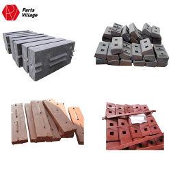 Hohe Chrom-Abnützung-Teil-Schlag-Stab-Zwischenlage-Platte und quadratischer Stahlstab für Prallmühle