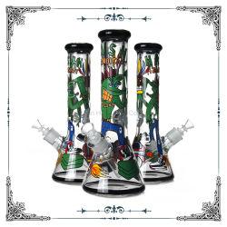 Nouveau design de 9 mm de dessin à la main Cartoon Art narguilé Heady verre pipes à eau en gros de fumer