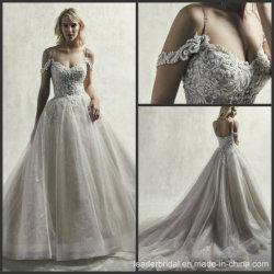 Isolationsschlauch-Brautballkleid-Spitze-Kristall-Funkeln-Hochzeits-Kleid S9084