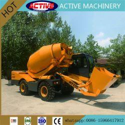 HY420 4.2 mètres cube Chargement automatique bétonnière avec un puissant moteur Diesel YUCHAI 85kw