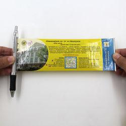 Banner de publicidade populares promocionais sinalizador de mensagem retráctil Ball Canetas com papel no interior