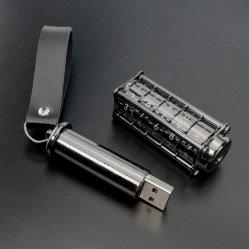 Clé USB 8 Go de verrouillage de 16 Go 32g Anneau en cuir Clé USB Stylo en métal dur 4 Go de disques Flash de mot de passe personnalisés