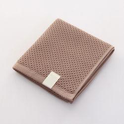 Venda por grosso de algodão de cor sólida personalizados Honeycomb 32x72cm Hotel Rosto Toalha de banho