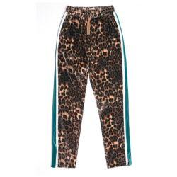 De hete Jeans van de Luipaard van de Taille van de Zak van de Verkoop Hoge
