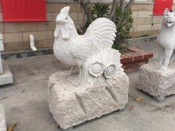 Натуральный камень серый гранит цыпленок скульптура SF-ST-054 для ландшафтного сада