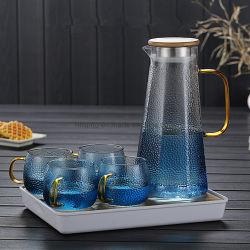 Fabrik-Verkaufs-Glasware-handgemachter Trinkwasser-Krug-preiswertes Borosilicat-Glas-Wasser-Krug-Set