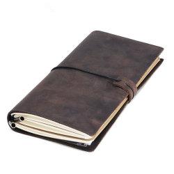 Handmade rechargeables à couverture souple élastique Vintage Journal Journal de voyage en cuir