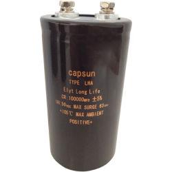100000UF 50V 증폭기 오디오 축전기 Capsun 5 년간 본래 품질 보장을%s 알루미늄 전해질 축전기