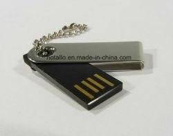 Elegante unidade flash USB e rotativa com logotipo grátis
