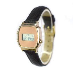 Оптовая торговля качество сигнала Цветные светодиодные кожаный ремешок наручные часы (CM19052)