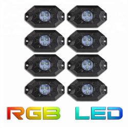 Commerce de gros 8PCS Offroad 6X6 Rock lampe LED RVB de contrôle de la musique Bluetooth Toyota pièces Rock lumière à LED