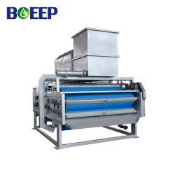 Filtro de correia Pressione o chorume a filtragem para o processo de tratamento de água de esgoto