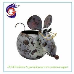 Comercio al por mayor al aire libre Animales personalizados Mouse Maceta para decoración de jardín