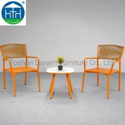 Hotel Garden nouveau design tous les temps de tissage de corde Orange Hotel Cafe Table Et Chaises Meubles De Patio en plein air