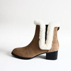 Mejor Venta de la mujer zapatos de vestir botas de tacón alto punta cuadrada señoras parte de la moda sandalias botas Ins