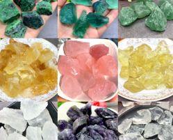 Gemstone Wand Elixir d'énergie de guérison Peu de petites perles naturelles Gem Pierre Cristal de Quartz
