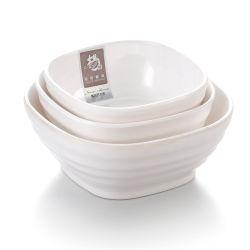 Mehrfachverwendbares quadratisches weißes Melamin-Plastiksalat-Filterglocke