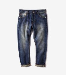 Pantaloni grezzi P001 dei jeans del denim della cimosa di stirata degli uomini di alta qualità