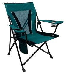 야영 쿼드 의자 매끄러운 팔걸이 1200d 옥스포드 직물 알루미늄 프레임