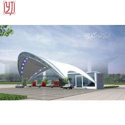 Estação de portagem da auto-estrada A Estrutura de aço THLE Marquise de estrutura de membrana de PVDF