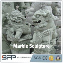La Sculpture sculptés à la main--Animal Sculpture, statue en marbre pour l'objet tombstone