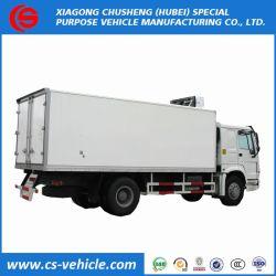HOWO 4X2 VEÍCULO DE ALIMENTOS REFRIGERADOS 5toneladas de carne refrigerada veículo usado nas caixas de caminhões refrigerados para venda