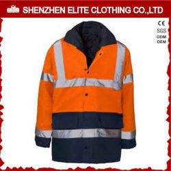 Commerce de gros Orange Hi Vis Veste réfléchissante Vêtements de travail (ELTSJI-2)