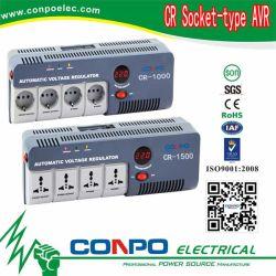 De NIEUWE) Europese Reeks van Cr (& het relais-Type van Contactdoos multi-Fuction de Stabilisator van het Voltage/Regelgever Cr-500va/1000va/1500va