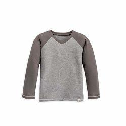 De T-shirts van het Kledingstuk van de peuter, de Reeks van de Kleren van de Baby van 3 Korte de v-Hals van de Koker Onderhemden, Katoenen van 100% Organische Kleding
