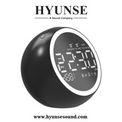 2019 Nouveau LCD numérique Bluetooth élégante le président Radio-réveil Support USB La carte de TF, AUX, U de disque