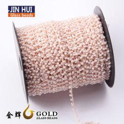 Perlas de Vidrio Máquina de bordado computarizado de rosca de cadena hilos sueltos