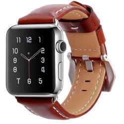 Cuir véritable prix d'usine de bonne qualité des bracelets de montres de regarder les bandes de cuir 38mm pour Apple