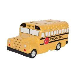 School Bus Geel Cute Cookie Jar Fine Ceramic Home decor Keukengerei collectie