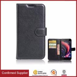 pour la couverture de cuir de téléphone mobile de cas de stand de chiquenaude du désir 10PRO de HTC