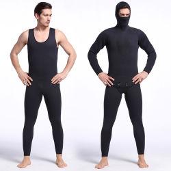 Снаряжение для дайвинга подходит для мужчин 5 мм в полной мере серфинг гидрокостюм худи Jumpsuit ныряния с маской и с кожухом