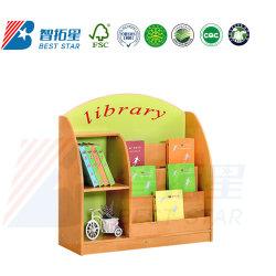 La biblioteca escolar estante para libros, muebles de jardín de infantes y preescolar, sala de juegos de madera, muebles de almacenamiento de los niños de pantalla de estante de libros, los niños libreria libreria
