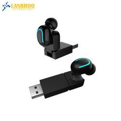 Mini-écouteurs sans fil Bluetooth Mono invisible pour voiture