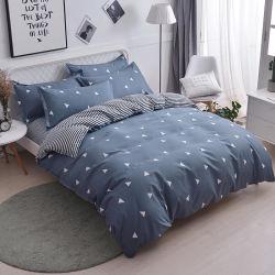 Оптовая торговля 5PCS постельные принадлежности, 100% ткань из микрофибры 80 GSM-серый с геометрическим печать кровать пуховыми одеялами Bedsheets